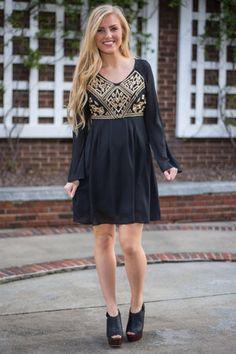 Treasure Me Dress, Black