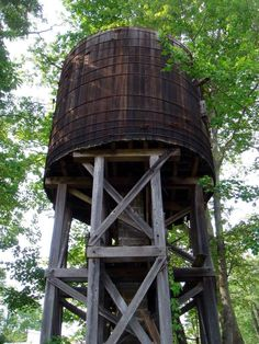 The old water tower right above the letterpress studio at The Penland School of Crafts in the mountains northeast of Asheville NC.