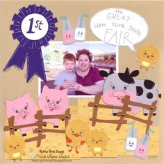 Ideas for a State Fair scrapbook for my grandson as he grows up