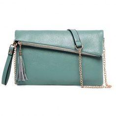 Sweet Women's Crossbody Bag With Tassel and Solid Color Design (LIGHT BLUE)   Sammydress.com Mobile