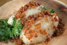 Cepelinai-traditional Lithuanian potato and meat dish