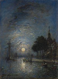Johan Barthold Jongkind - Port de Dordrecht au crépuscule (1881)