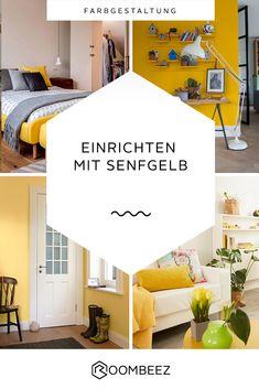 #living #einrichtungsideen #inspiration #senfgelb #gelb Welche Farbe passt zu Senfgelb? Wir haben Ideen & Tipps für dich zusammengestellt. ☀ Vati, Celine, Interior, Mustard, Spicy, Design, Inspiration, Home Decor, Color Yellow