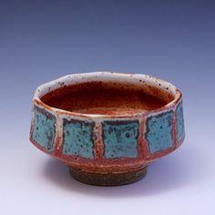 Wheelthrown Stoneware Tea Bowl / Chawan with Shino by hsinchuen, $50.00
