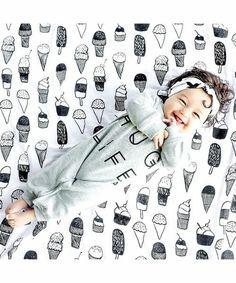 babybaby(ベイビーベイビー)の「Modern Burlap(モダンバーラップ) モノクロおくるみ1枚セット(ベビー用品)」|詳細画像