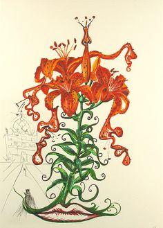 Salvador Dali, Tiger Lilies (+ Mustache) Musca Figueras