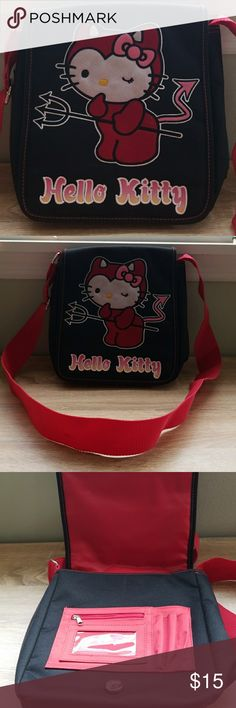 Hello Kitty Messenger Bag 💖👜 This is a vintage,  never-used Hello Kitty canvas messenger bag! Bags Shoulder Bags