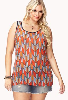 Cute Geo Print top from Forever21 Plus sizes