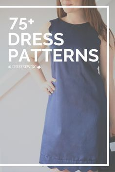 Learn how to sew a wide variety of dresses with these free dress patterns. (pictured: Seriously Scalloped Dress)