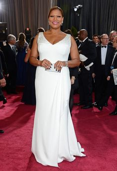 Queen Latifah at the Oscars - Plus size curvy red carpet fashion