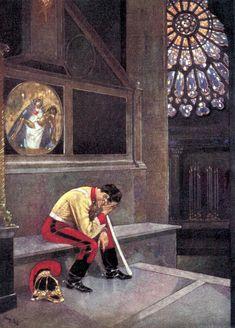 """Tears from a Dragoon!. From Prosper Mérimée's """"Carmen"""". Illustration by René Bull (1915)"""
