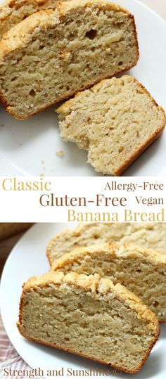 Low Carb Recipes To The Prism Weight Reduction Program Classic Gluten-Free Banana Bread Vegan, Allergy-Free Strength And Sunshine There Is Nothing Like A Warm Slice Of Homemade Banana Bread This Classic Gluten-Free Banana Bread Recipe Is Vegan Patisserie Sans Gluten, Dessert Sans Gluten, Gluten Free Desserts, Dairy Free Recipes, Vegan Desserts, Real Food Recipes, Dessert Recipes, Yummy Food, Recipes Dinner