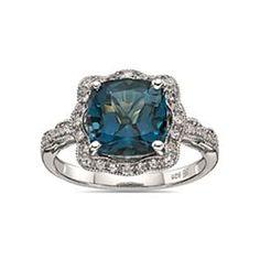 Vintage style Blue Topaz ring. I LOVE IT!!!