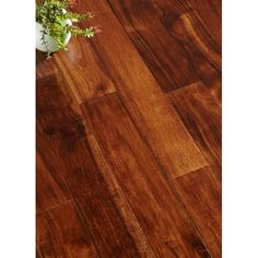 Acacia Light Walnut 1/2 x 5 x 1-4' Select 2mm Wear Layer Handscraped- Engineered Prefinished Flooring