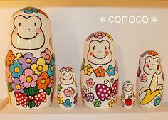- Matryoshka - White Gorilla Nesting Dolls