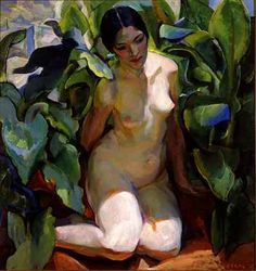 Edouard Antonin Vysekal, A Figure in Shadow, 1927