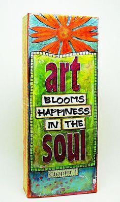 Art & Soul (Mixed Media) by Elizabeth Allans Art Studio, via Flickr