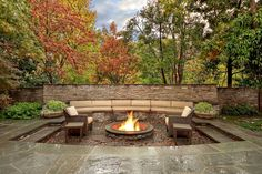 Firepit Cool Outdoor Living Space Designing Ideas Featuring