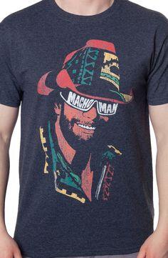Macho Maniac T-Shirt: 80s Wrestling Mens Shirts
