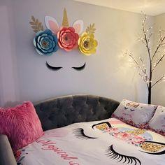 #unicorndecorations #unicornnursery #unicornbackdrop #unicorn Mexican Paper Flowers, Paper Flower Wall, Paper Flowers Diy, Flower Wall Decor, Flower Diy, Baby Shower Unicornio, Mexican Party Decorations, Wall Decorations, Unicorn Baby Shower Decorations