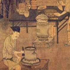 Tea Extraction (detail) 攆茶圖 (局部)