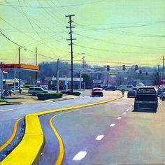 """""""Main Street"""", 24"""" x 24"""", oil on linen panel, Susan Abbott"""