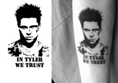 My tattoo Fight Club Tyler Durden