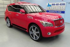 People often see rare or interesting cars that brighten their otherwise dreary days. Luxury Vehicle, Luxury Suv, Suv Trucks, Chevy Trucks, Infiniti Qx56, 4x4, Watermelon, Wheels, Money