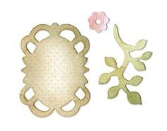 Sizzix Stanzer Originals  Frame, Leaves & Flower