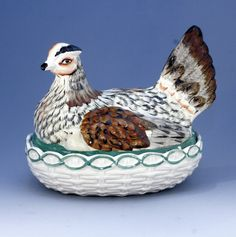 Hen on Nest Staffordshire pottery covered tureen.