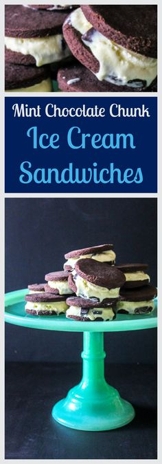 There's not much better on a hot summer day than a scoop of homemade mint chocolate chunk ice cream sandwiched between two freshly baked chocolate wafer cookies! Chocolate Wafer Cookies, Chocolate Wafers, Mint Chocolate, National Ice Cream Month, No Dairy Recipes, Homemade Ice Cream, Summer Treats, Freshly Baked, Sandwiches