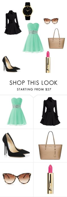 """Awesome"" by cutestyles11 ❤ liked on Polyvore featuring Jimmy Choo, Michael Kors, STELLA McCARTNEY, Guerlain and Larsson & Jennings"