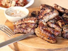 Filipino Style Chargrilled Pork served with Garlic Vinegar Dip
