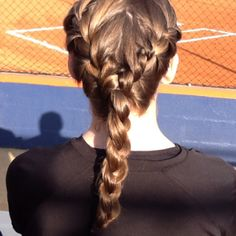 French braids into a braid