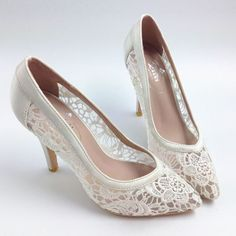 Sexy See Through High Heels Pointed Toe Lace Wedding Bridal Shoes, S001 Description - Platform Height: Flat - Heels: 8.5cm - Toe Shape: Pointed Toe - Inside Material: Leather - Outside Material: lace. #weddingshoes