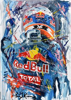 Eric Jan Kremer is a world famous Formula 1 and MotoGP artist. He painted Max Verstappen, Lewis Hamilton, Ayrton Senna, Valentino Rossi and many more. Formula 1 Car Racing, Sports Car Photos, Stock Car, Graffiti Wall Art, Writing Pictures, Speed Art, Red Bull Racing, Super Sport Cars, Motorcycle Art