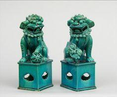 Turquoise Foo Dogs
