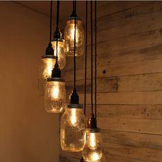 Rétro Industriel Lampe Suspension Plafonnier Lustre Luminaire Décor