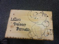 Custom made Heffalump step stool this is such an adorable step stool