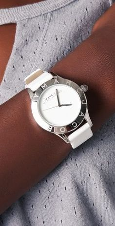 Marc by Marc Jacobs White Patent Blade Dying to have a watch like this