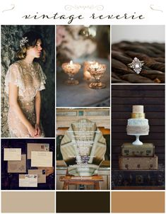 Vintage Reverie Wedding Inspiration Board from Want That Wedding