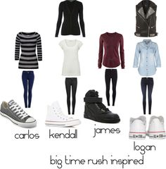 """big time rush inspired"" by aavagian ❤ liked on Polyvore"