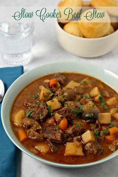 This Easiest Ever Slow Cooker Beef Stew from CookingInStilettos.com is a must for winter! Warm and comforting, this slow cooker beef stew recipe will be a family favorite!