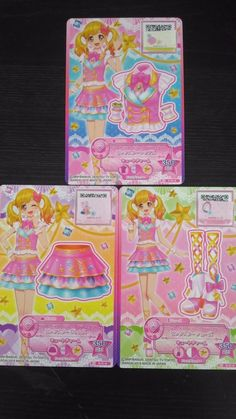 "Trading card of Japanese Animation ""AIKATSU STARS"" pink star coorde 18"
