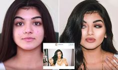 Girl transforms into Kylie Jenner by layering on masses of make-up