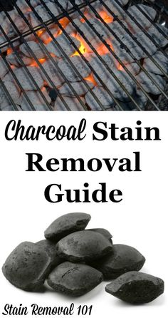 Step by step instructions for how to remove charcoal stains from clothing, upholstery and carpet {on Stain Removal 101}