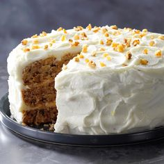 Hummingbird Cake Recipe -This impressive hummingbird cake is my dad's favorite, so I always make it for his birthday. It also makes a great Easter dessert and is lovely with a summer meal. —Nancy Zimmerman, Cape May Court House, New Jersey Mini Cakes, Cupcake Cakes, Cupcakes, Bundt Cakes, Grandma Cake, Hummingbird Cake Recipes, 30 Cake, Savoury Cake, Let Them Eat Cake