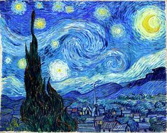 Vincent Van Gogh - use for mini quilt sky?