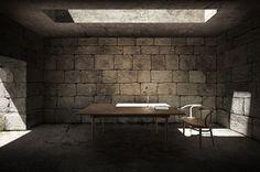 Architecture  Modern design : filipe paixao designs a stone wall house for fernando pessoa