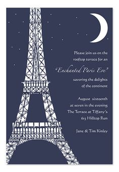Sweet Paris Invitation • $3/each invitationconsultants.com. See more ideas for planning your next Paris themed party at www.sparklerparties.com/a-night-in-paris